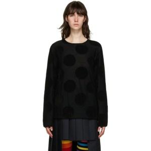 Comme des Garcons Homme Plus Black Polka Dot Sweater
