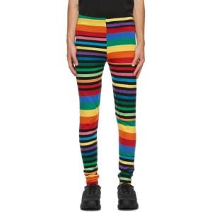 Comme des Garcons Homme Plus Multicolor Horizontal Stripe Lounge Pants