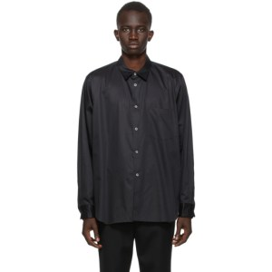 Comme des Garcons Homme Plus Black Broadcloth Cut-Out Shirt