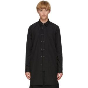 Comme des Garcons Homme Plus Black Layered Shirt