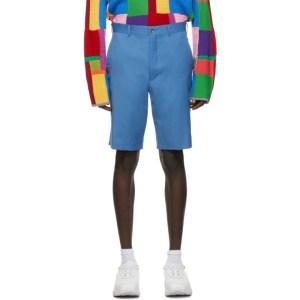 Comme des Garcons Homme Plus Blue Wool Gabardine Shorts