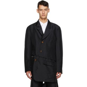 Comme des Garcons Homme Plus Black Double Twill Garment-Treated Blazer