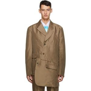 Comme des Garcons Homme Plus Khaki Double Twill Garment-Treated Blazer
