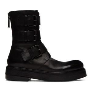Marsell Black Zuccolona Anfibio Fibbie Boots
