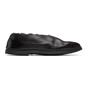 Marsell SSENSE Exclusive Black Gomme Shearling Coltellara Ballerina Flats
