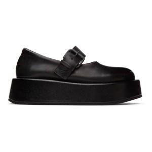Marsell Black Platform Buckle Shoes