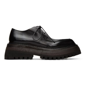 Marsell Black Quadrarmato Derbys
