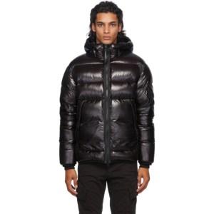 C.P. Company Black Down Hooded Jacket