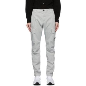 C.P. Company Grey Cotton Gabardine Cargo Pants