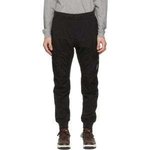 C.P. Company Black Dyed Fleece Taylon P Cargo Pants