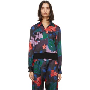 Dries Van Noten Purple and Red Floral Shirt