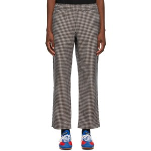 Rassvet Beige Plaid Trousers