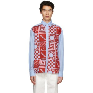 Rassvet Blue Cotton Printed Shirt