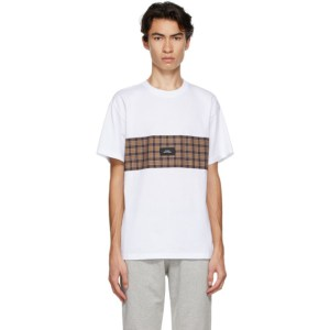 Rassvet White Check Panel T-Shirt