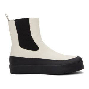 NEOUS Off-White and Black Zaniah Boots