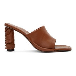NEOUS Brown Leather Ginan Mules