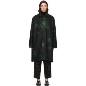 Davi Paris Black Hydrangea Coat