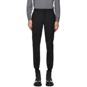 Neil Barrett Black Wool Cargo Pants