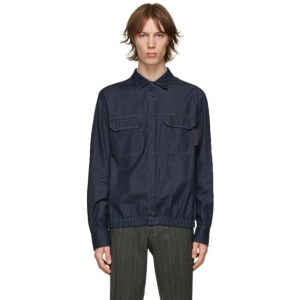 Neil Barrett Indigo Denim Blouson Shirt
