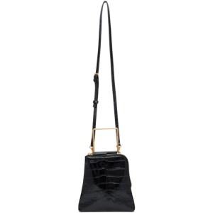 Marge Sherwood Black Croc Breeze Handle Bag