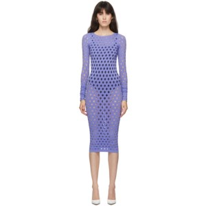 Maisie Wilen Purple Perforated Dress
