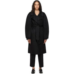 Arch The Black Cashmere and Silk Wrap Coat
