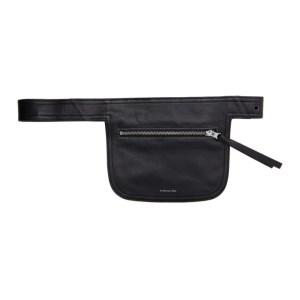 Andersson Bell Black Leather Belt Waist Bag