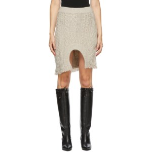 Andersson Bell Beige Knit Insideout Short Skirt