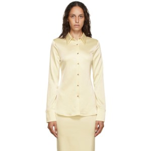 Georgia Alice Yellow Satin Slim Shirt