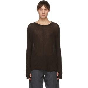 Tanaka Brown Cashmere Airy T-Shirt
