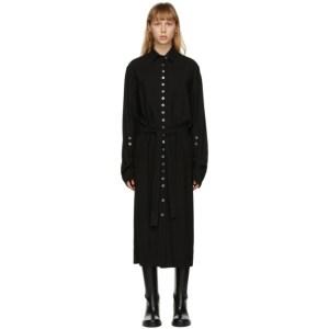 Ann Demeulemeester SSENSE Exclusive Black God of Wild Shirt Dress