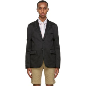 Thom Browne Black Deconstructed Blazer