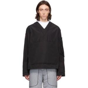 Boramy Viguier Black Cotton and Nylon Field Sweater