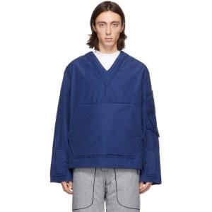 Boramy Viguier Blue Cotton and Nylon Field Sweater