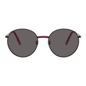 Kenzo Black Shiny Round Sunglasses