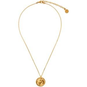 Ludovic de Saint Sernin Gold Bottom Medallion Necklace