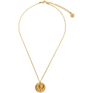 Ludovic de Saint Sernin Gold Broken Heart Medallion Necklace