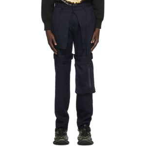 Who Decides War by MRDR BRVDO Navy Retroversion Trousers