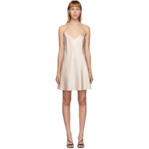 La Perla Pink Silk Slip Short Dress