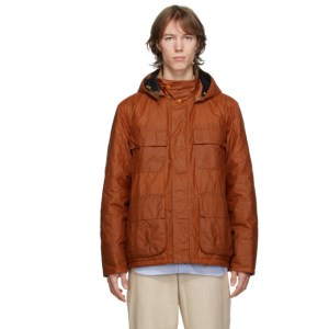 Barbour Orange Norse Projects Edition Wax Ursula Jacket