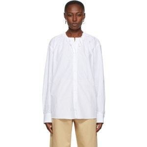 Rika Studios White Tatum Neck Ties Shirt