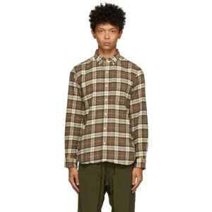 BEAMS PLUS Brown Speckled Dyed Shirt