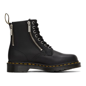Dr. Martens Black 1460 Nappa Zip Ankle Boots