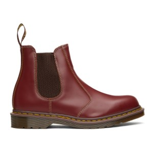 Dr. Martens Burgundy Made In England 2976 Chelsea Boots