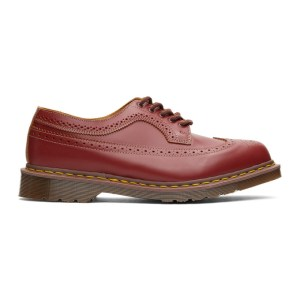 Dr. Martens Burgundy Made In England 3989 Brogues