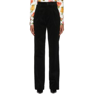 Commission Black Corduroy Double Waisted Trousers
