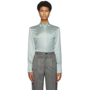 Commission Green Silk Banker Shirt