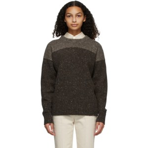 Partow Brown Melange King Sweater