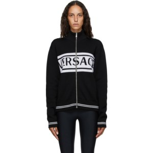 Versace Black and White Logo Sweater