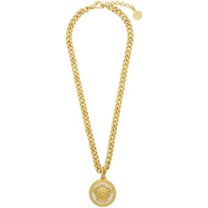 Versace Gold Crystal Medusa Necklace